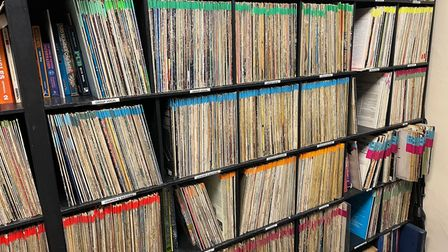 Part of the Hospital Radio Ipswich music library - it also includes digital tracks