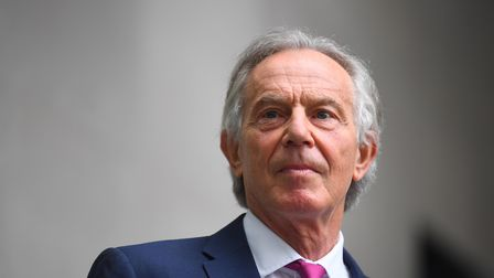 Former prime minister Tony Blair arrives at BBC Broadcasting House in central London for his appeara