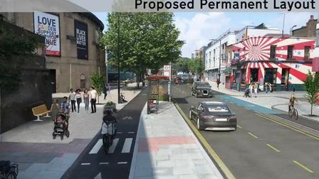 The trial scheme in Chalk Farm Road could become permanent