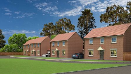 The plans for a new development off Turnpike Lane, Ickleford Credit