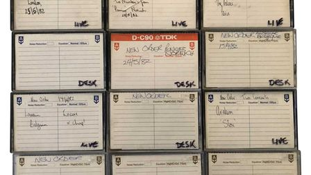 Cassette tapes of New Order's Norwich gig