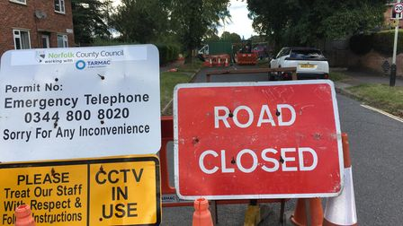 The junction of Pettus Road and South Park Avenue, which has been closed for roadworks since July