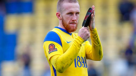 Connor Lemonheigh-Evans of Torquay United at the final whistle during the National League match betw