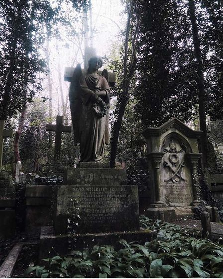 Angels at Highgate Cemetery