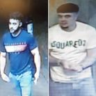 Police want to speak to these two men connection with an assault at the Hare and Hounds pub in North Brink, Wisbech.