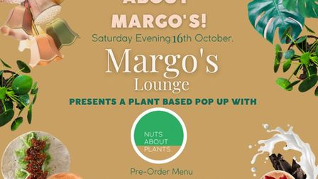 Nuts About Plants teams up with Margo's to offer vegan night in Gorleston