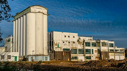 The Herts in Focus exhibition includesMorna Rees' picture 'Shredded Wheat silos' inWelwyn Garden City.
