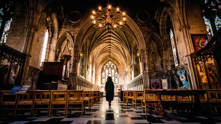 The Herts in Focus exhibition includesAlexandra Macey's picture'Divine Reflection' atSt Albans Cathedral.