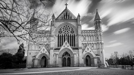 The Herts in Focus charity photography exhibition includes Anne Kelly's picture of St Albans Cathedral.