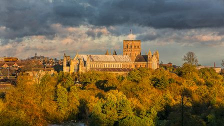 The Herts in Focus charity photography exhibition includesBrian Cooke's picture'Autumn Light' ofSt Albans Cathedral.
