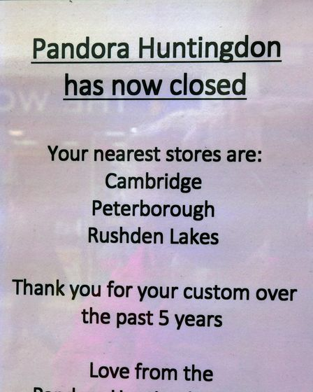 Pandora has thanked it's customers who have shopped there over the past five years.