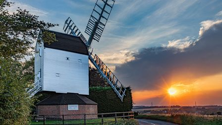 The Herts in Focus exhibition includesTony James' picture 'Cromer Mill at Sunset', taken atCromer, Cottered.