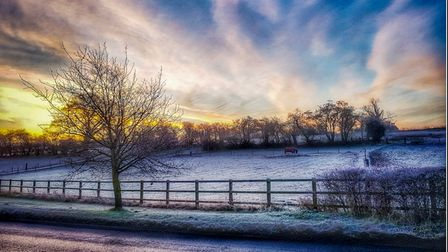The Herts in Focus charity photography exhibition includesPhilip Vye's picture 'A frosty morning in Walkern'