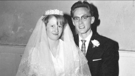 John and Jacqui Crouch on their wedding day, September 23, 1963
