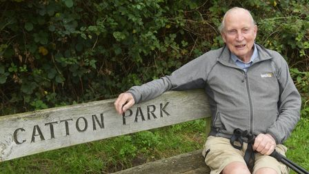 Kenneth Leggett, Broadland District Councillor has completed 50 Catton parkruns by walking them. Pic