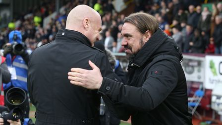 Burnley Manager Sean Dyche and Norwich Head Coach Daniel Farke before the FA Cup match at Turf Moor,