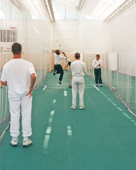 The four Australians 'play'at Lord's at last... in the nets!