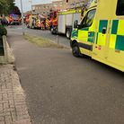 Fire crews rescued residents from a blaze which broke out at a flat in Magnolia Green, Gorleston.