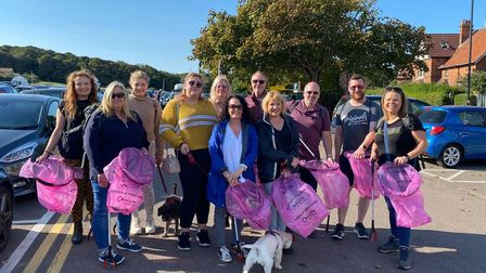 A team from the property developer Lovell were out in Cromer and the nearby Warren Woods for a litter pick.