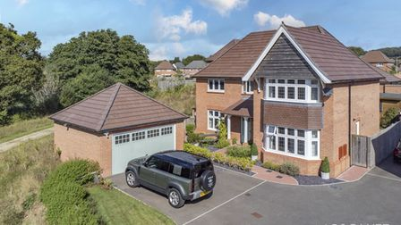 The spacious detached family home in Dawlish