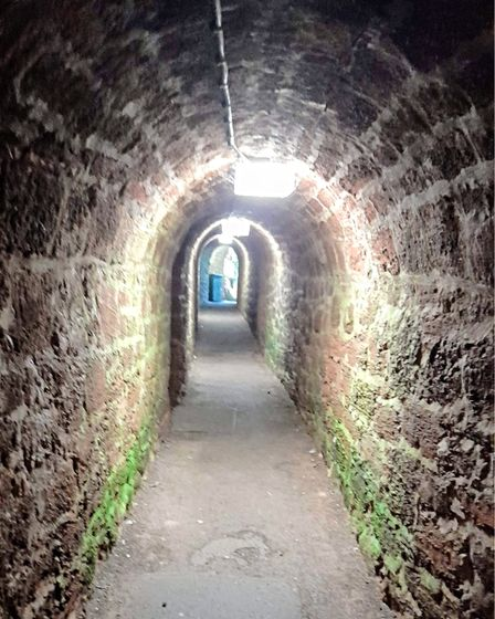 The Smuggler's Tunnel - actually used to transport Oddicombe limestone to the kiln at the tunnel entrance