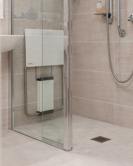 Walk-in shower and mobility shower seat from BMAS Hitchin