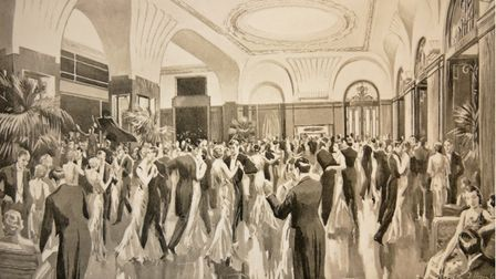The ballroom which was used for several scenes in The Body in the Library