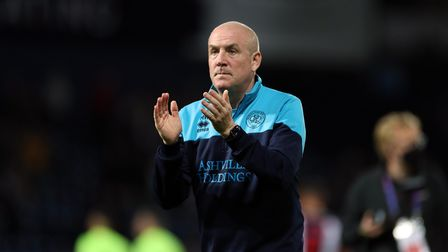 Queens Park Rangers manager Mark Warburton applauds the fans after the Sky Bet Championship match at