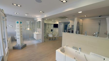 BMAS mobility bathrooms showroom on Hermitage Road, Hitchin, Hertfordshire