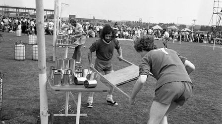 """""""It's a Knockout"""" competition held in Thetford, 27 May 1974. Picture: Archant Library"""