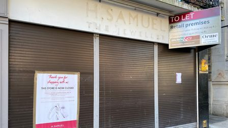 The former H Samuel unit is up for rent for £65,000