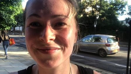 Maddie Waktare, 26,covered 299 miles last month as part of a British Red Cross challenge.