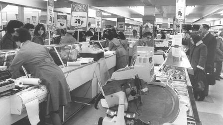 The delicatessen section of Woolworths Store in Norwich. Pictured in 1981.