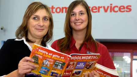 Evening News Going OutWoolworths, Riverside, NorwichJenna Randall, left,and Karen English on the