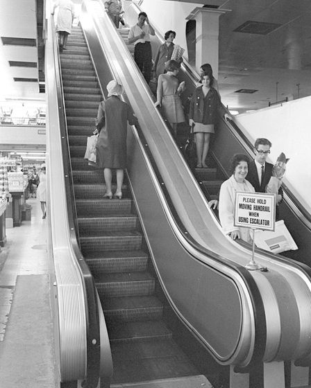 Norwich Woolworth store new escalator pic taken 8th sept 1967 m5897-40a pic to be used in lets talk