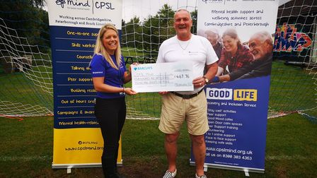Melbourn FC have been fundraising for CPSL Mind for two seasons and are now beginning a third.