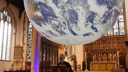 Revd Dr Fiona Haworth who read out the public declaration of a climate emergency at the St Peter Mancroft Gaia launch