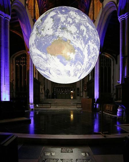 Gaia at night in St Peter Mancroft