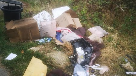 The flytipping was found at Orwell Country Park in Ipswich