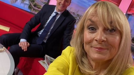 Louise Minchin and BBC Breakfast co-host Dan Walker, as she tells the nation she will be leaving the