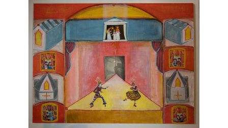 Becky's painting 'The anchorhold 1971'