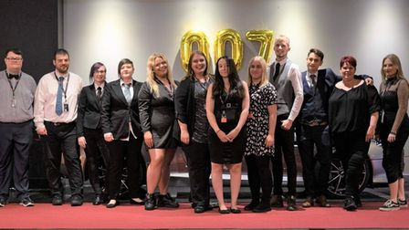 Staff at The Light Cinema in Wisbech turned up in their finest evening wear