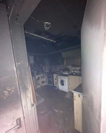 Shocking pictures reveal the destruction left by a blaze which engulfed a flat in Magnolia Green in Gorleston.