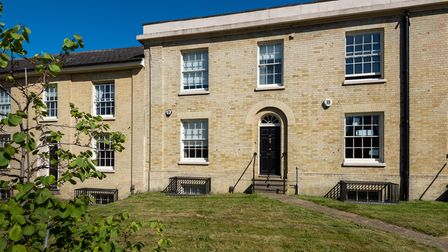 Brick built Grade II listed townhouse on St Stephens Road in Norwich which is for sale