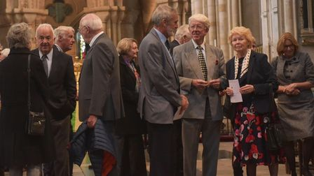 Memorial for Bryan Colman at Norwich Cathedral. Pictures: Brittany Woodman