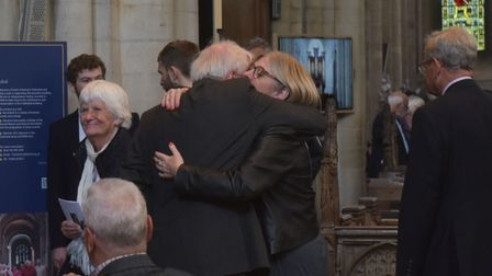 Memorial for Bryan Colman Read at Norwich Cathedral. Pictures: Brittany Woodman