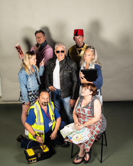 The cast of A Bunch of Amateurs at the Barn Theatre in Welwyn Garden City.