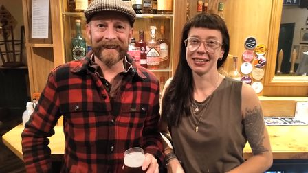 Justin McKee and Emma Byrne, who run The Leopard pub in Norwich