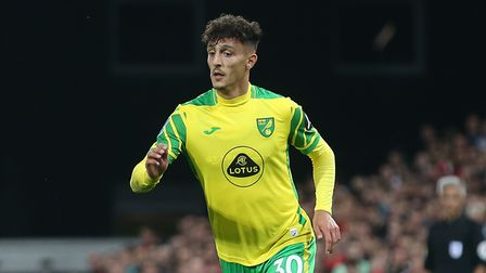 Dimitris Giannoulis of Norwich in action during the Carabao Cup match at Carrow Road, Norwich Pictu