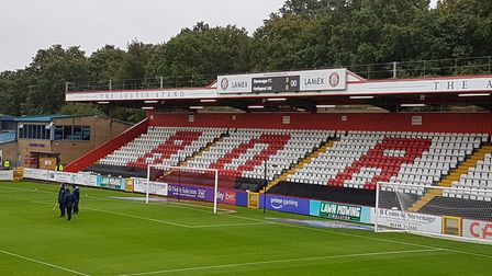 Stevenage played Hartlepool United at the Lamex Stadium in League Two.
